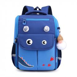 Детский каркасный рюкзак, школьный, темно-синий. Волшебный динозавр.