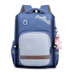 Детский каркасный рюкзак, школьный, синий. Шипы.