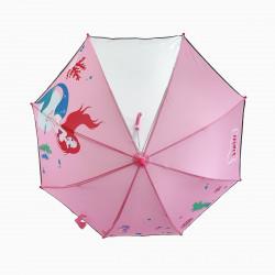 Детский зонтик с прозрачным окошком, розовый. Русалка.