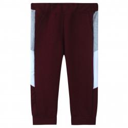 Штаны для мальчика, спортивные, бордовые. Лампасы.