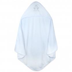 Плед флисовый с уголком для крещения, крыжма, белый. Ангел. 90*90 см.