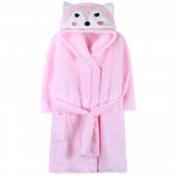 Халат махровый, банный, розовый. Лисичка.