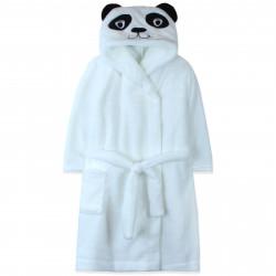 Халат махровый, банный, белый. Пандочка.