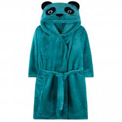 Халат махровый, банный, зеленый. Пандочка.
