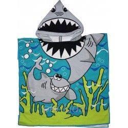 Детское полотенце, пончо. Акула.