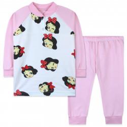 Пижама для девочки, розовая. Белоснежка.