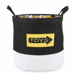 Корзина для игрушек с подкладкой, черная. Toys.
