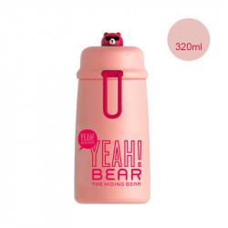 Термос детский, розовый. Крутой медвежонок. 320 мл.