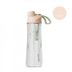 Бутылка с ситечком пластиковая, шейкер, персиковая. Just Life. 700 мл.