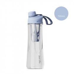 Бутылка с ситечком пластиковая, шейкер, голубая. Just Life. 700 мл.
