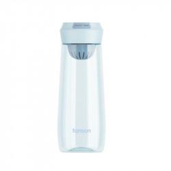 Бутылка с ситечком пластиковая, голубая. Enjoy Time. 500 мл.