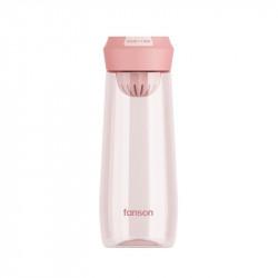 Бутылка с ситечком пластиковая, розовая. Enjoy Time. 500 мл.