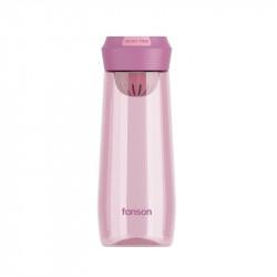 Бутылка с ситечком пластиковая, фиолетовая. Enjoy Time. 500 мл.