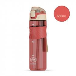 Бутылка пластиковая, бутылка для спорта, красная. Sport Style. 650 мл.