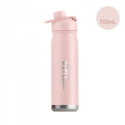 Термос, термос-бутылка, розовый. GNT. 700 мл.