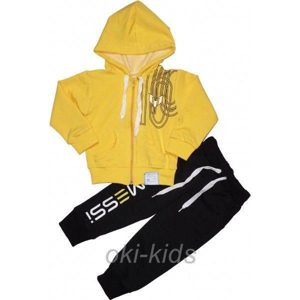 Спортивный костюм на мальчика Месси желтый