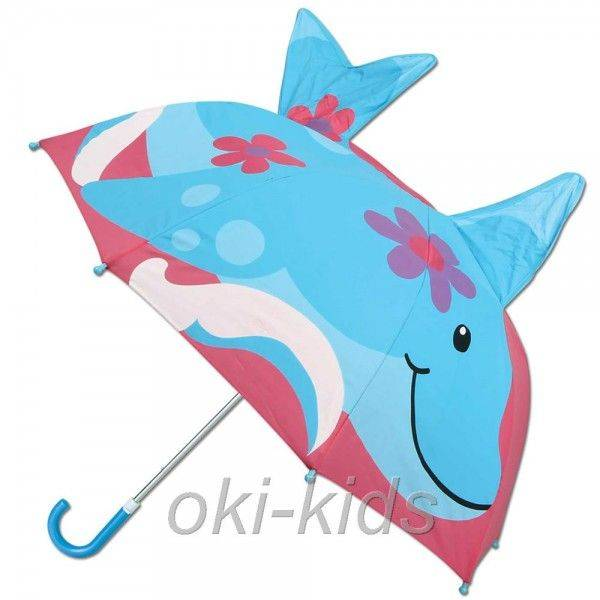 Детский зонтик 3D Дельфин