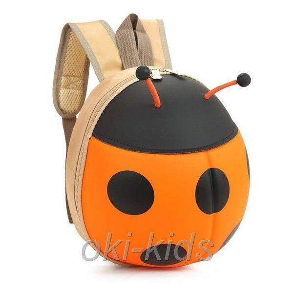 Детский рюкзак. Божья коровка, оранжевый.