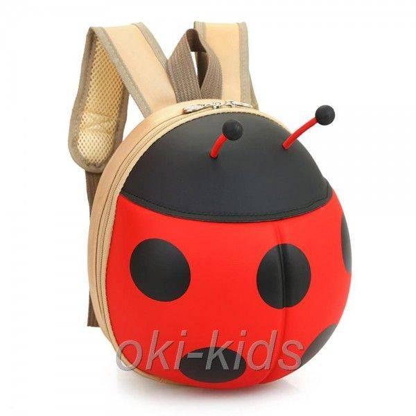 Детский рюкзак. Божья коровка. Красный.