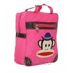 Детский рюкзак. Мартышка, розовый.
