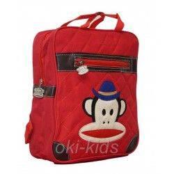 Детский рюказк. Мартышка, красный.
