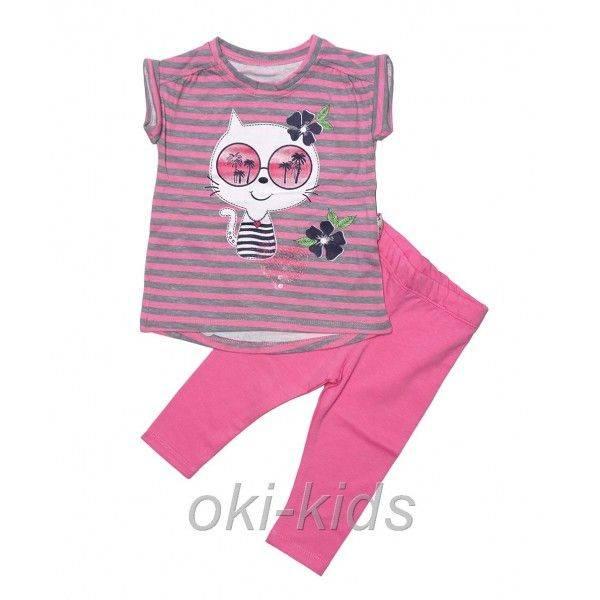 """Компект """"Котик"""" для девочки, розовый."""