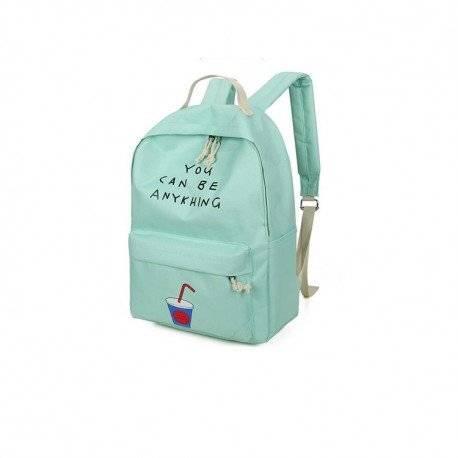 Стильный рюкзак с рисунком напитка, мятный