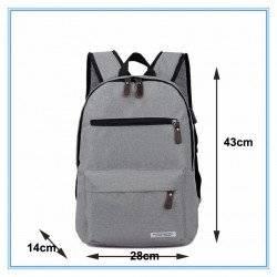 Рюкзак, городской, с USB подключением, для ноутбука, серый