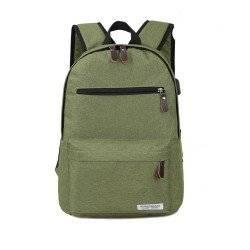 Рюкзак, городской, с USB подключением, для ноутбука, зеленый