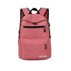 Рюкзак, городской, с USB подключением, для ноутбука, бардовый