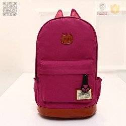 Стильный рюкзак с ушками CAT, малиновый