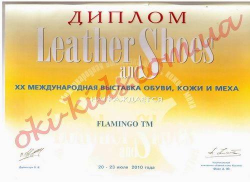 Диплом участия в ХХ Международной выставке обувь, кожи и меха
